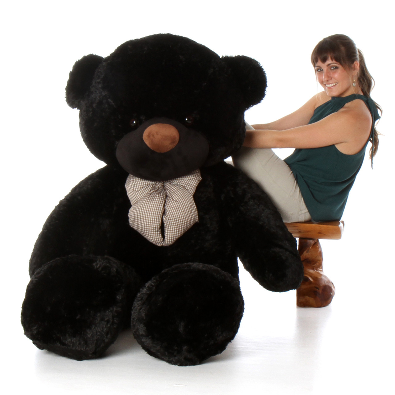 6ft Life Size Teddy Bear Juju Cuddles soft and huggable black bear
