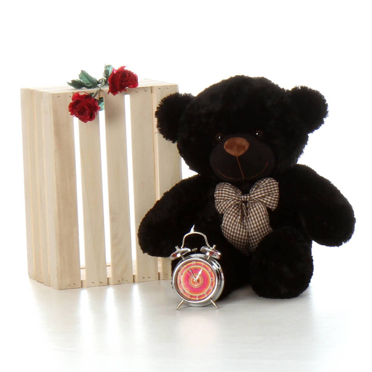 30in Oversized Teddy Bear Juju Cuddles soft and huggable black fur