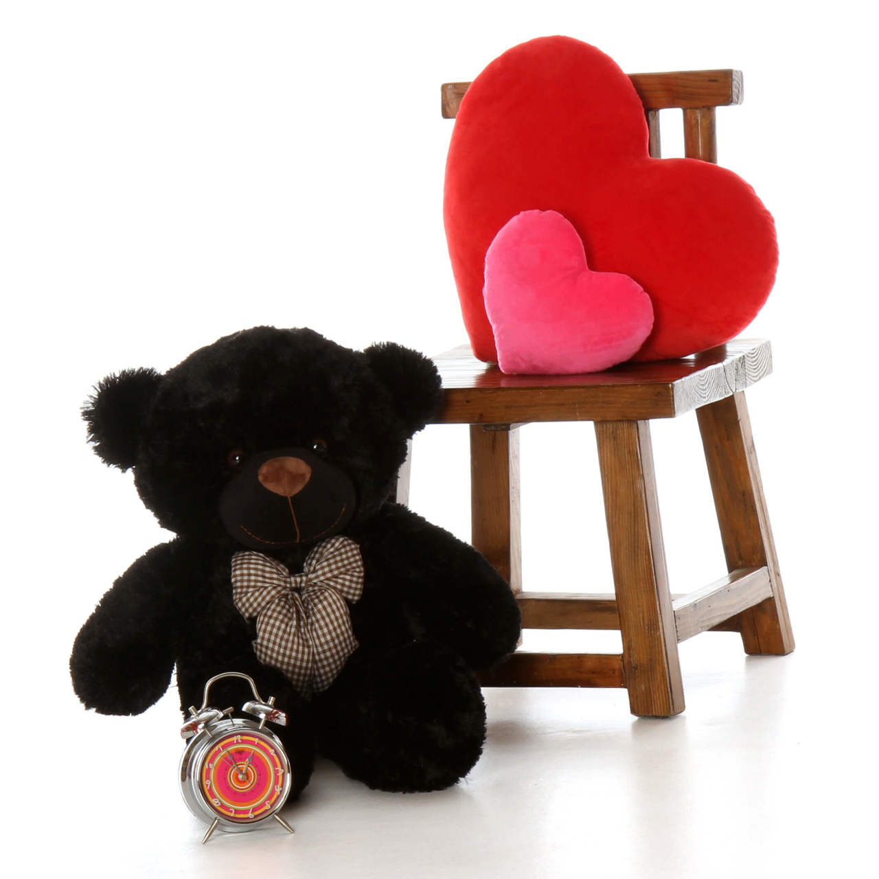 Big 2.5ft oversized black teddy bear Juju Cuddles soft and huggable, perfect gift for someone beary special