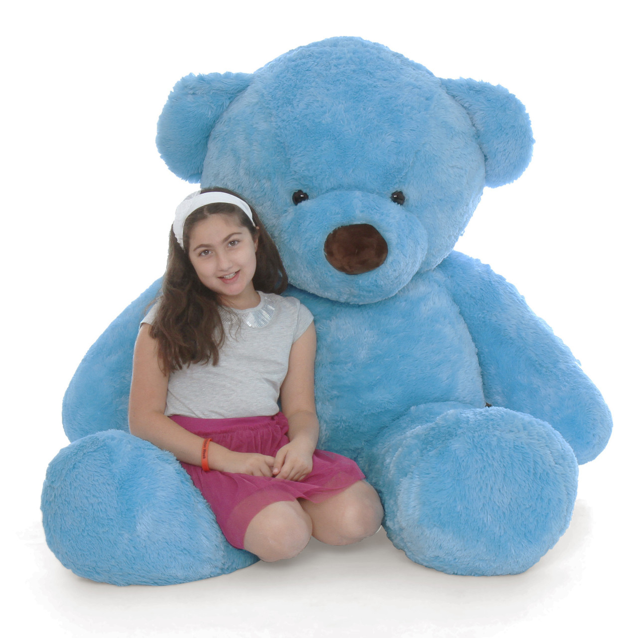 Big Blue Teddy Bear Sammy Chubs 72in