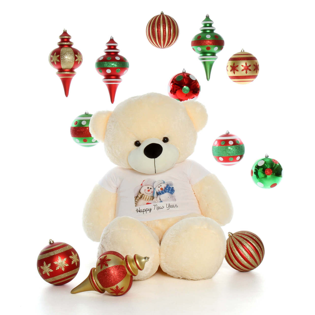60in Vanilla Cozy Cuddles Holidays Giant Teddy Bear