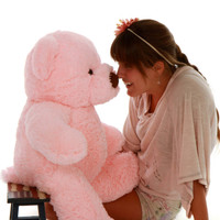Gigi Chubs Plush and Adorable Light Rose Teddy Bear 30in
