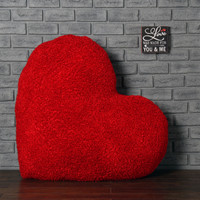 44in Huge Heart Cushion for Valentine's