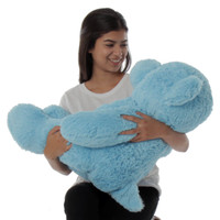 Super Suft and Cute Blue Teddy Bear - Perfect Birthday Gift