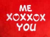 Red Heart Cushion ME XOXXOX You Text
