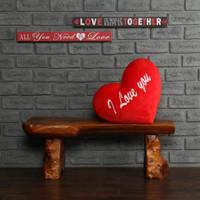 Heart Shaped Cushion I Love You