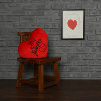Personalized Stuffed Heart Pillow Be My Valentine