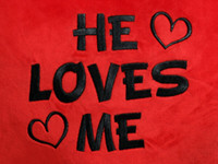 He Loves Me Red Heart text