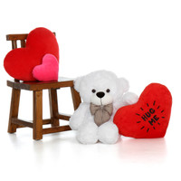30in Valentine's Day Coco Cuddles with Hug Me heart pillow