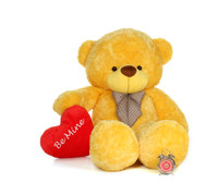 6ft Daisy Cuddles with a Be Mine Valentine's Day plush heart