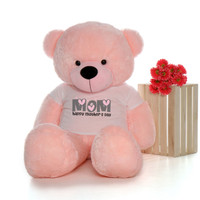 60in Pink Lady Cuddles Happy Mother's Day Mom Teddy Bear
