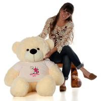 48in Vanilla Cozy Cuddles Make a Wish Personalized Birthday Teddy Bear
