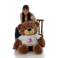 48in Mocha Sunny Cuddles Make a Wish Personalized Birthday Teddy Bear