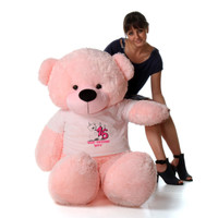 60in Pink Lady Cuddles Make a Wish Personalized Birthday Teddy Bear