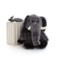 36in Enormous Grey Stuffed Elephant for Valentine's Day