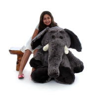 48in Life Size Grey Stuffed Elephant for Valentine's Day