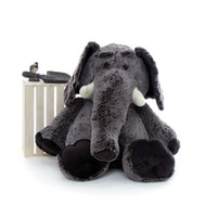 48in Life Size Grey Stuffed Elephant for Valentine's Day from Giant Teddy