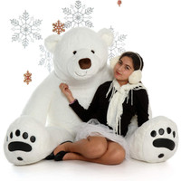 World's Largest Polar Bear Giant Teddy Brand Huge Life-Size Polar Bear