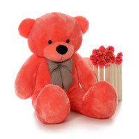 60in Bubble Gum Cuddles Pink Teddy Bear