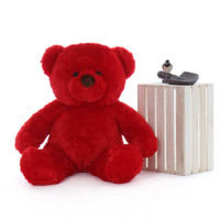 Bright Red Riley Chubs Giant Teddy Bear 38 Inches Adorable Bear