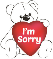 I'm Sorry Teddy Bear T-shirt