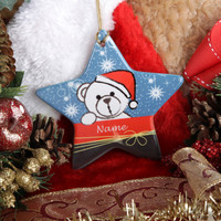 Personalized Christmas Ornament - Star Shaped