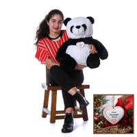 Super Soft Panda with Personalized Ornament - Unique Christmas Present