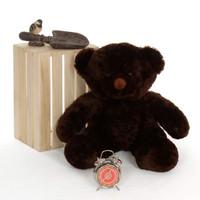 amazingly huggable 30in Teddy Bear super soft dark brown fur Munchkin Chubs