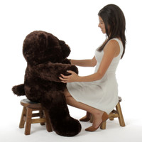 Big Dark Brown Teddy Bear Munchkin Chubs 38in