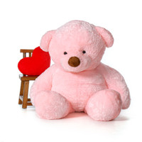 6ft Plush Pink Gigi Chubs Life Size Teddy Bear