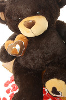 Sugar Pie Big Love chocolate brown teddy bear 30in