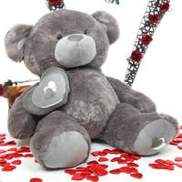4ft Silver Teddy Bear Snuggle Pie Big Love