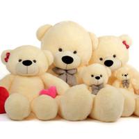 Cozy Cuddles Adorable Vanilla Cream Teddy Bear 24in