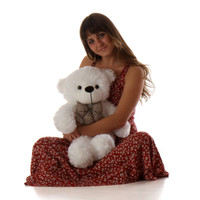 Big White Teddy Bear Coco Cuddles 24in
