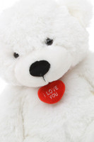 2ft Huge White Teddy Bear with Necklace Coco Cuddles