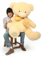 Sweet Hugs cream teddy bear 45in