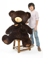 Big Papa Hugs chocolate brown teddy bear 45in