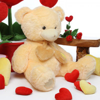 Sweet Hugs cream teddy bear 36in