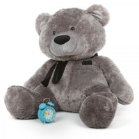 Diamond Shags silver teddy bear 45in