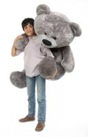 Diamond Shags silver teddy bear 52in
