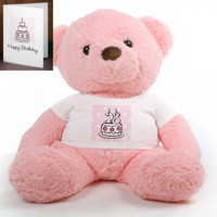 Pink Birthday Cake Chubs teddy bear 38in
