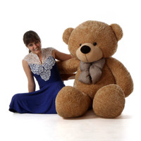 Life Size Amber Brown Teddy Bear Shaggy Cuddles 60in