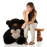 Huge Black Teddy Bear Juju Cuddles 38in