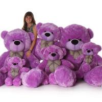 72in DeeDee Cuddles Purple Teddy Bear