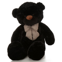 60in Juju Cuddles Black Teddy Bear