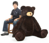Baby Tubs chocolate brown teddy bear 52in