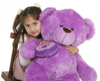 Sewsie Big Love lavender teddy bear 30in