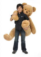 Honey Tubs plush amber brown jumbo teddy bear 52in
