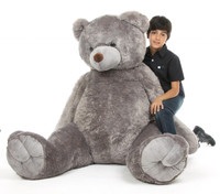 Sugar Tubs gray life size teddy bear 65in