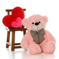 3ft Lady Cuddles Super Soft Huggable, Pink Plush Bear